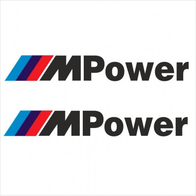 2pcs SET BMW M POWER DECAL STICKER M1