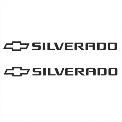 2pcs SET CHEVROLET SILVERADO SIDE SKIRT DECAL / STICKER M1
