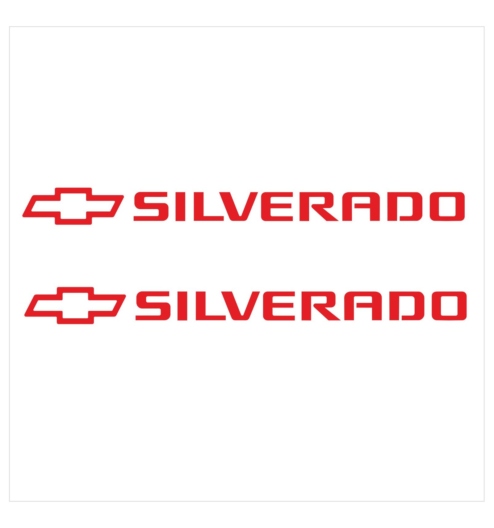 Set Of 2 Pieces Silverado Logo Vinyl Decal Sticker For Your