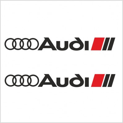 2pcs AUDI SPORT DECAL / STICKER M1