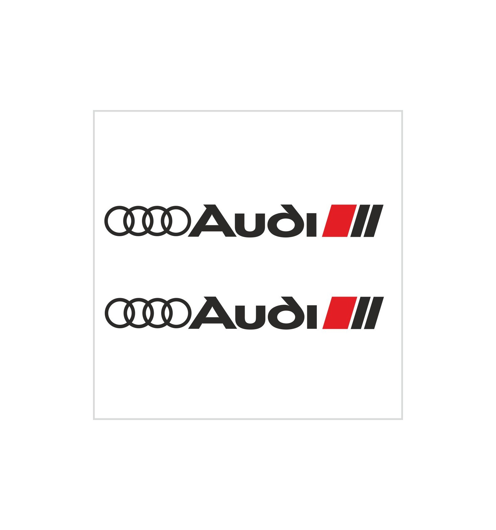 Sports Mind Powered By Audi Sport Vinyl Decal Sticker: 2pcs AUDI SPORT DECAL / STICKER M1