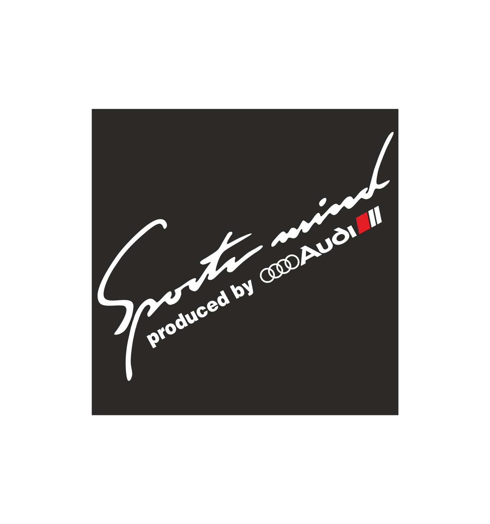 Sports Mind Produced By Audi Sport Decal Sticker M1 Everything