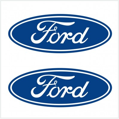 2pcs SET FORD LOGO DIE CUT BLUE DECAL / STICKER