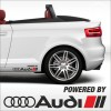 2pcs powered by audi sport decal / sticker m2