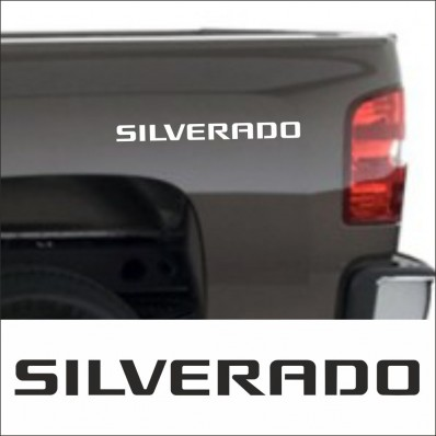 2pcs SET SILVERADO SIDE SKIRT DECAL / STICKER M2