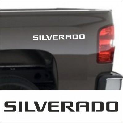 2pcs SET SILVERADO SIDE SKIRT DECAL / STICKER M2